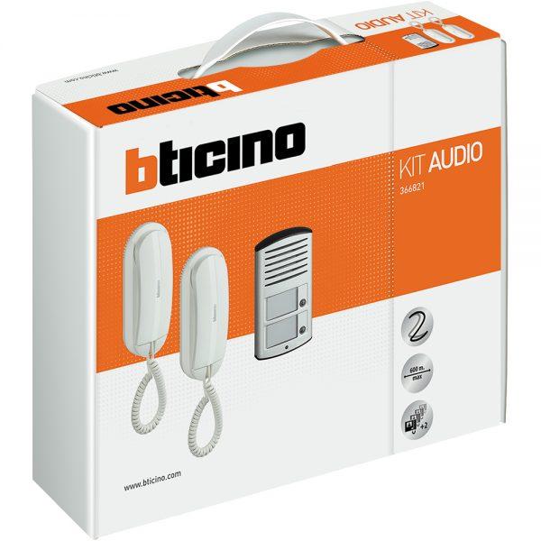 Kit Citofono Bifamiliare Bticino 2 Fili.Bticino 366821 Kit Audio Bifamiliare 2 Citofoni E Pulsantiera