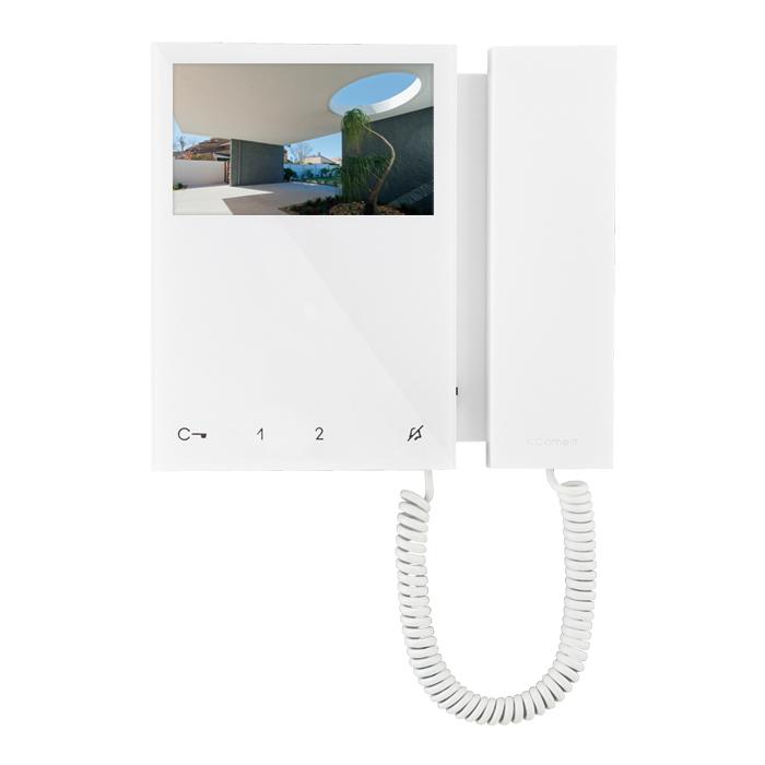 Citofono Comelit Prezzo.Comelit 6701w Videocitofono A Colori Con Cornetta Sistema Simplybus Cml6701w