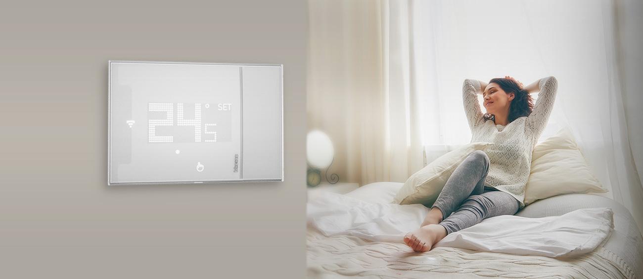 Bticino x8000 x8000w termostato digitale wifi smarther - Smarther bticino ...
