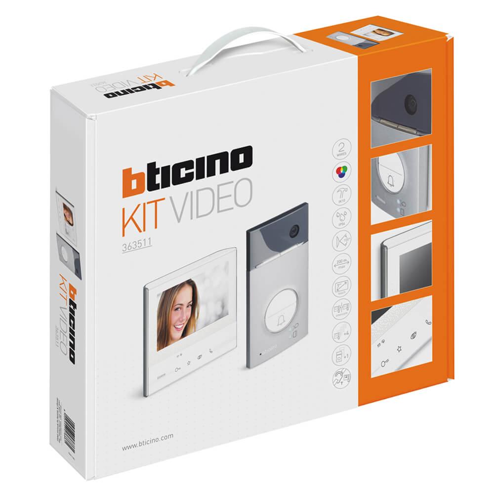 Bticino 363511 kit videocitofono vivavoce con memoria for Costo videocitofono