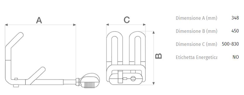 Vortice 70710 termoventilatore caldofa per caminetti for Caldofa vortice