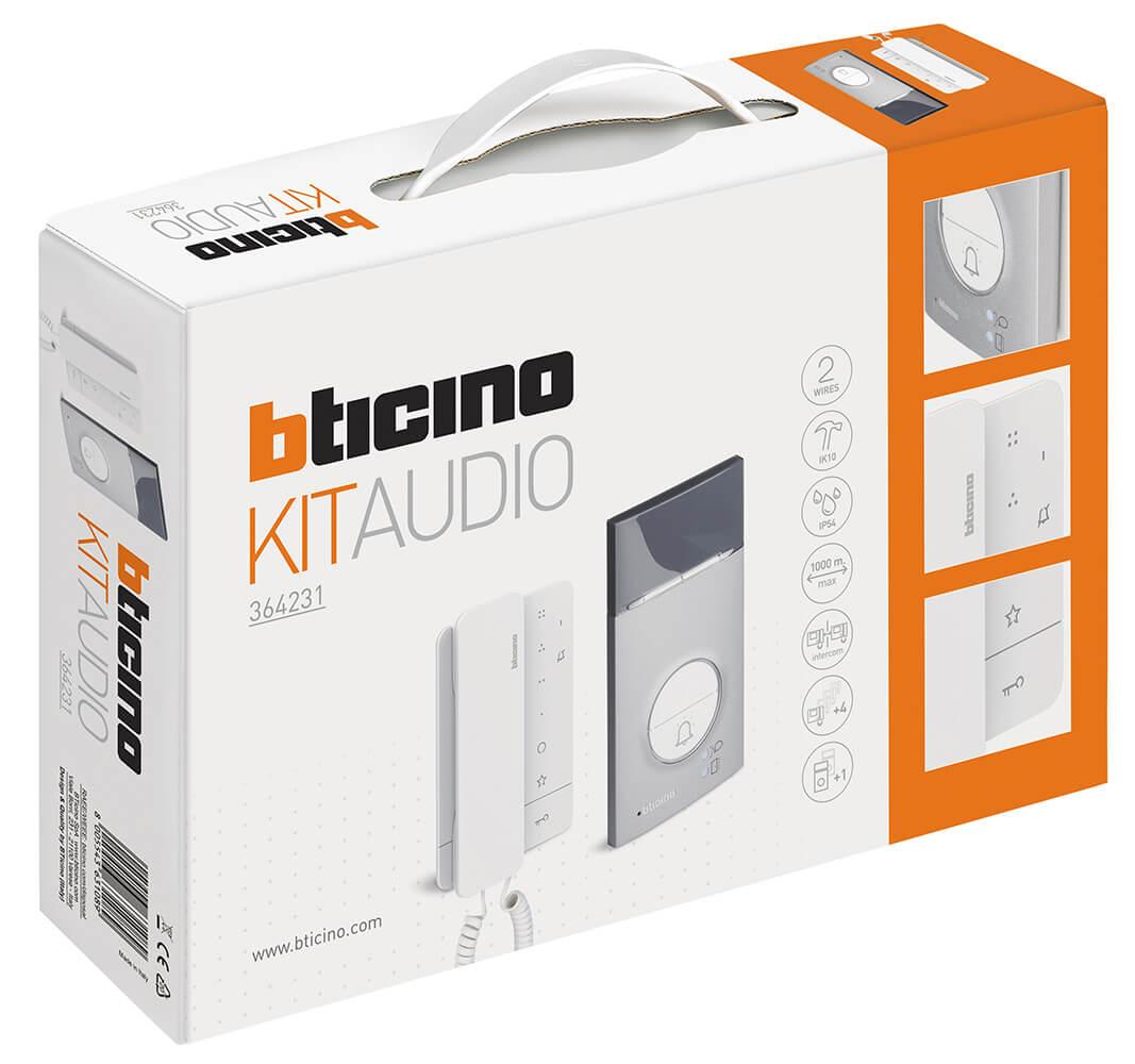 Kit Citofono Bticino.Bticino 364231 Kit Citofono Monofamiliare Con Cornetta Ter364231